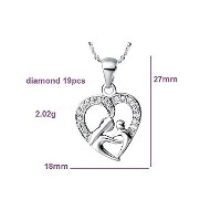 Silver Chain Heart Shape Necklace For Women