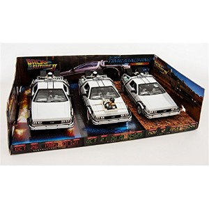 """WELLY 1:24スケール """"BACK TO THE FUTURE 1/2 / 3"""" """"TIME MACHINE TRILOGY PACK"""" DE LOREAN ウィリー 1:24スケール ..."""
