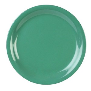 Excellant? Green Melamine Collection 6-1/2-Inch Narrow Rim Round Plate, Green, 12-Piece [並行輸入品]