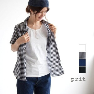 ◎◎[92651/92783]prit(プリット)30/1リサイクルムラ糸天竺TOP杢タンクトップ【ゆうパケット対応可・ゆうパケット送料無料】H【SUMMER SALE 30%OFF】【☆☆】