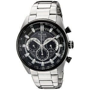 [パルサー]Pulsar 腕時計 Solar Chronograph Analog Display Japanese Quartz Silver Watch PX5033 メンズ [並行輸入品]