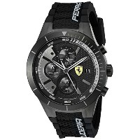 フェラーリ Ferrari Men's 0830262 REDREV EVO Analog Display Japanese Quartz Black Watch [並行輸入品]