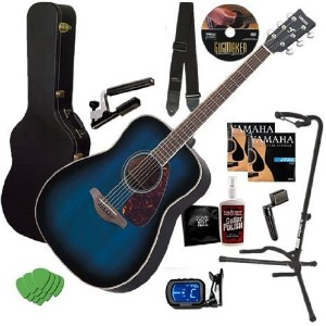Yamaha (ヤマハ) FG720S Blue Burst Guitar COMPLETE BUNDLE w/ Case, Tuner & Stand アコースティックギター アコギ ギター...