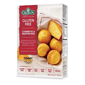 Orgran Cornbread Muffin Mix 375 g (order 8 for trade outer) / Orgranコーンブレッドマフィンミックス375グラム(商品アウター用8順)
