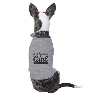 365 Printing Birthday Girl Grey Cute Dog T-Shirt Cotton Gift For Small Pet Only