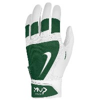 ナイキ メンズ 野球 グローブ【Nike MVP Edge Batting Gloves】White/Gorge Green