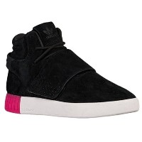 アディダス レディース シューズ・靴 スニーカー【adidas Originals Tubular Invader Strap】Black/Black/Shock Pink