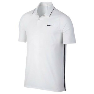 ナイキ メンズ トップス ポロシャツ【Nike TW VL Max Woven Solid Golf Polo】White/Black/Reflective Black