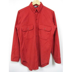 Woolrich/ウールリッチ 長袖 コットン シャツ レッド Made in U.S.A 【サイズ:S】【US古着】【中古】【あす楽対応】【古着 mellow楽天市場店】