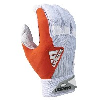 アディダス メンズ 野球 グローブ【adidas EQT adiZero Batting Gloves】White/Orange