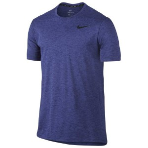 ナイキ メンズ トップス Tシャツ【Nike Breathe Hyper Dry S/S Training Top】Deep Night/Binary Blue/Black