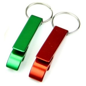 Set of 2 - Key Chain Beer Bottle Opener / Pocket Small Bar Claw Beverage Keychain Ring by HI