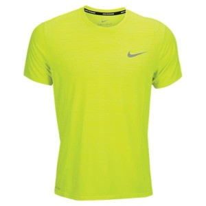 ナイキ メンズ トップス Tシャツ【Nike Dri-FIT Cool Miler Short Sleeve T-Shirt】Volt/Electro Lime/Reflective Silver