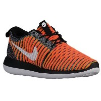 ナイキ レディース シューズ・靴 スニーカー【Nike Roshe Two Flyknit】Black/Black/White/Bright Mango