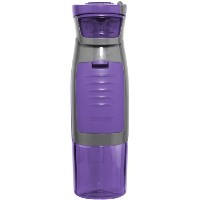 Contigo AUTOSEAL Kangaroo Water Bottle with Storage Compartment, 24-Ounce, Purple by Contigo