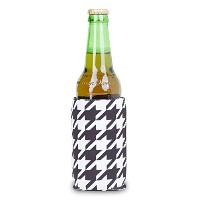 Zees Inc The Cool Sack-Neoprene Np506 Tooth Hound Pattern Can Cooler, Black/White [並行輸入品]