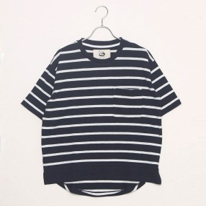 【SALE 23%OFF】コムサイズム COMME CA ISM 半袖ボーダーカットソー (ネイビー)