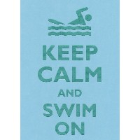長方形冷蔵庫マグネット – Keep Calm and Swim On Swimming person