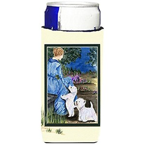 Caroline 's Treasures ss8021-parent Lady with her Westie Ultra Beverage Insulators forスリム缶ss8021muk...