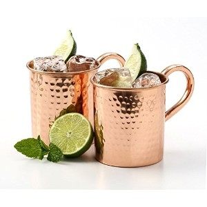 AVS STORE ®ソリッド銅Moscow Muleマグ、100%の純粋な銅ミュール( Set of 2)