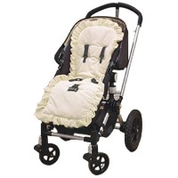 Baby Doll Bedding Heavenly Soft Minky Stroller Covers, Ivory by BabyDoll Bedding