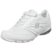 Skechers Fired Up Womens, White/Silver, 38 EUR, B
