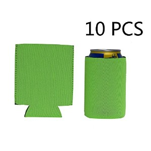 330ml折りたたみ可能なネオプレンはCoozie / Canホルダー/ Can Cooler / Canスリーブ/ Can Coolies / Colaの/ビール/ soda- 10パック