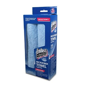 Large-Sized Microfiber Towels Two-Pack, 15 x 15, Unscented, Blue, 1 Pack of Two (並行輸入品)