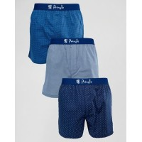 Pringle Woven Woven ウーブン Boxer 3 12 Pack With Spot Print