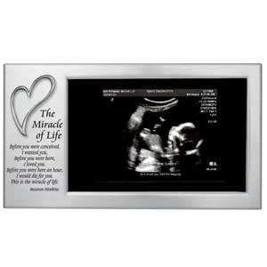 Just Arrived Silver-plated Sonogram Photo Frame ... by Cathedral Art