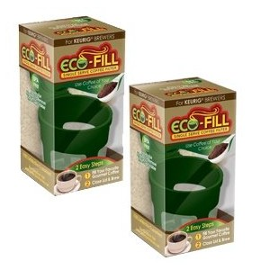 Perfect Pod eco-fill–2パック–詰め替え可能カプセルfor k-cup Brewers