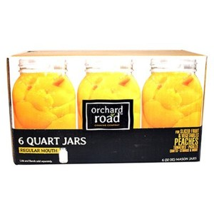 6PK QT Reg Mason Jar by Orchard Road Canning