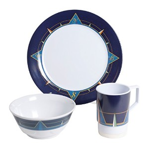 Galleyware 1078-s 12 Decoratedメラミン滑り止め12 Piece Dinnerwareギフトセット