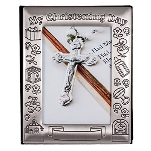Christening Day Birth Record Pewter-finish Photo Album by 1Home