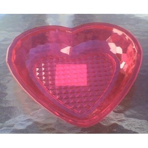 "Red Heart Shaped Tray Acrylic Valentines 8.5"" x 8.25"" by Greenbrier [並行輸入品]"