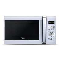 Bella 700-Watt Compact Microwave Oven, 0.7 Cubic Feet, White with Chrome by Bella