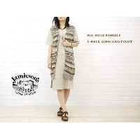 【ジャミーソンズ JAMIESON'S】ALL-OVER FAIRISLE V-NECK LONG WAIST COAT・NJMS1201-0341102【レディース】【RCP】【トップス】【50】...