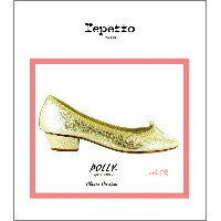 "!【レペット""ポリー/ゴールド】【Repetto""Polly""Chevre-crispee/gold】"