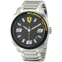 フェラーリ Ferrari Men's 0830168 Aero Evo Analog Display Quartz Silver Watch [並行輸入品]
