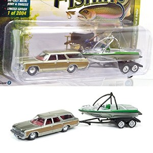 "JOHNNY LIGHTNING 1:64SCALE ""GONE FISHING 2017 RELEASE 2 "" ""1973 Chevrolet Caprice w/Boat & Trailer""..."