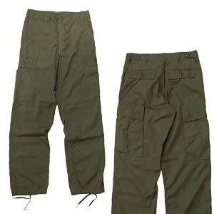 (バズリクソンズ)BUZZ RICKSON'S ミリタリー トラウザー Resistant Poplin Only Green Shade I07 ARMY SHADE TROUSERS...