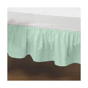 Portable Crib Solid Dust Ruffles - Color: Mint by BabyDoll Bedding