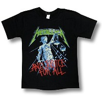 METALLICA/AND JUSTICE FOR ALL/メタリカ/メタル・ジャスティス/ロックTシャツ/バンドTシャツ (S)
