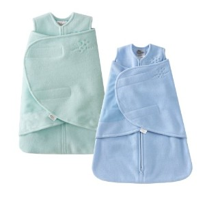 HALO SleepSack Micro-Fleece Swaddle, Mint / Blue, Preemie by Halo