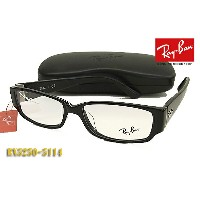 【Ray-Ban】レイバン眼鏡メガネフレームRX5250-5114 ブラック 伊達メガネ(度入り対応/フィット調整可/送料無料【smtb-KD】【RCP】