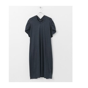 DOORS mizuiro-ind crew neck gathered wide one-piece【アーバンリサーチ/URBAN RESEARCH レディス ワンピース c gray ルミネ...