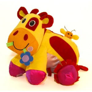 Giggle Toys Patches The Huggable Cow, Yellow by Giggle Toys