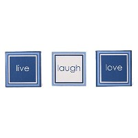 One Grace Place Simplicity Canvas Art Decor, Blue/Light Blue/White [並行輸入品]