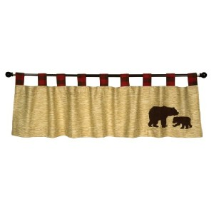 Trend Lab Northwoods Window Valance, Red/Tan by Trend Lab