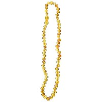 Momma Goose Teething Necklace, Honey, 15 by Momma Goose